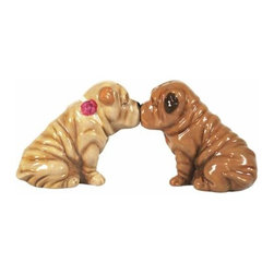 WL - 2.75 Inch Shar Peis Kissing Figurines Salt and Pepper Shakers - This gorgeous 2.75 Inch Shar Peis Kissing Figurines Salt and Pepper Shakers has the finest details and highest quality you will find anywhere! 2.75 Inch Shar Peis Kissing Figurines Salt and Pepper Shakers is truly remarkable.