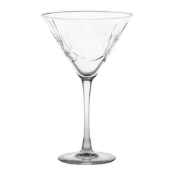 Rolf Glass - Tuscany Martini 10oz, Set of 4 - Add an olive or an onion and you'll be all set serve your favorite Martinis in these classically shaped glasses. Engraved olive branches across every glass will bring peace and harmony to all your gatherings.