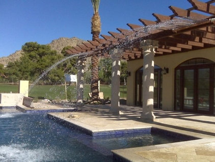 Mediterranean Hot Tub And Pool Supplies by CJ's Home Decor & Fireplaces