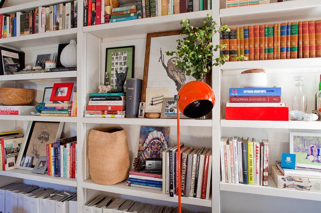 Eclectic  Open shelves