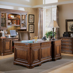 Hooker Furniture - Hooker Furniture Brookhaven Executive Desk with Leather Top 281-10-563 - Includes Hooker Furniture Brookhaven Executive Desk with Leather Top 281-10-563 only.