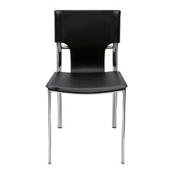 Lisbon Dining Chair, Black, Set of 2