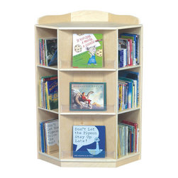 Guidecraft - Corner Book Nook - Features: -Durable UV coating. -Three dedicated sections face outward for book display. -Six sections with four adjustable shelves are perfect for book storage. -Birch plywood construction with a smooth. -Assembly required. -1 Year limited warranty.