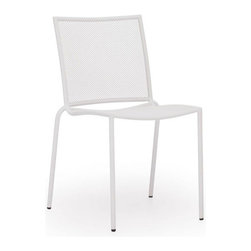 ZUO - Repulse Bay Dining Chair - White - Funky and fun, the Repulse Bay Chair will add flare to any space. Frame is made from epoxy coated steel that's durable enough for any climate. Comes in white, purple, aqua or lime.
