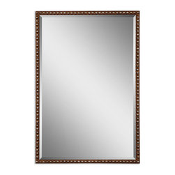 Uttermost - Uttermost 13749 Tempe Distressed Brown Metal Mirror - Distressed Rusty Brown w/ Silver Undertones