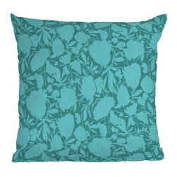 DENY Designs - DENY Designs Khristian A Howell Bryant Park 1 Throw Pillow - A personal twist on home decor. Give your house some love with the bright and modern DENY Designs Khristian A Howell Bryant Park 1 Throw Pillow. A fade-resistant, special dye printing process is used for each pillow to create the long-lasting color and comfort you want. Make a bold statement while supporting art: DENY works with artists and art communities around the world to create custom home decor accessories. A concealed zipper makes this throw pillow easy to clean while the eye-catching blue print transforms any bed or couch from ordinary to truly extraordinary.Custom printed to orderFade resistantWoven polyester coverConcealed zipper6-color dye processKhristian A Howell collection