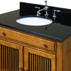 """Sagehill Designs - Sagehill Designs OW3122-MB Midnight Black  31"""" Midnight Black Granite - 31-Inch Midnight Black Granite Vanity Top with Sink Sagehill Designs is pleased to introduce the Granite Vanity Top Program. Each top will allow the finishing touch to be added to our selection of fine bath cabinetry. Choosing the perfect combination of vanity and complementing granite top from Sagehill Designs will add to the timeless beauty of your bathroom. Sagehill designs brings the beauty of nature into your home as an accent to your fine taste.   Granite Top Features Include:  Overall Dimensions: 31"""" x 22"""" x 3/4"""" For use with Sagehill Designs 30"""" vanity cabinets Pre-mounted undermount white porcelain sink (Included) Pre-drilled for widespread bathroom faucet (standard 8"""" centers) Eased edge detailing Four Inch High Backsplash Included Easy three-step installation Pre-Sealed and Pre-Polished to a smooth glossy finish for easy maintenance"""