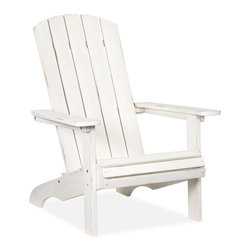 PB Classic Adirondack Chair, White - No cottage is complete without a Muskoka, or Adirondack, chair. It has been a symbol of summer relaxation for over a century, and is a must-have at every cottage.
