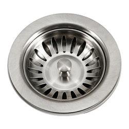 """Houzer - Houzer 190-9180 Stainless Steel Basket Strainer - Houzer kitchen accessory Basket Strainer 3.5""""."""
