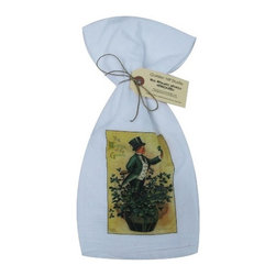 The Wearing of the Green    Flour Sack Towel  Set of 2 - A fabulous set of 3 flour sack towels. This set features a wonderful antique print of St. Patrick's Day.   These towels are printed in the USA by American Workers!