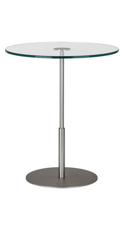 Robert Abbey - Saturnia Side Table, Stainless Steel - -Stainless Steel Finish