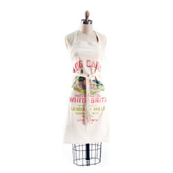 True Grits Apron - How old is your mom? Would she recognize the vintage flour sack print on this apron?