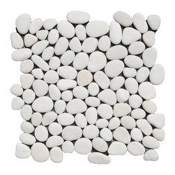 Indo Tile - White Pebble Tile, Sample - SAMPLE of White Pebble Tile ( 1 Full Sheet or Square Foot )