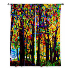 """DiaNoche Designs - Window Curtains Lined from DiaNoche Designs by Mandy Budan - Standing Room Only - DiaNoche Designs works with artists from around the world to print their stunning works to many unique home decor items.  Purchasing window curtains just got easier and better! Create a designer look to any of your living spaces with our decorative and unique """"Lined Window Curtains."""" Perfect for the living room, dining room or bedroom, these artistic curtains are an easy and inexpensive way to add color and style when decorating your home.  This is a woven poly material that filters outside light and creates a privacy barrier.  Each package includes two easy-to-hang, 3 inch diameter pole-pocket curtain panels.  The width listed is the total measurement of the two panels.  Curtain rod sold separately. Easy care, machine wash cold, tumble dry low, iron low if needed.  Printed in the USA."""