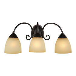 Hardware House - Oil Rubbed Bronze 3 Light Bathroom Vanity Wall Fixture - Finish: Oil Rubbed Bronze
