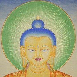Buddha  (Original) by Fnu Tenzin Dhonden - Fine medicine Buddha paintings makeing time 20days,original unique piece, everything done so beautifully .