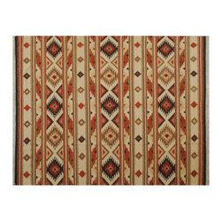 1800GetARug.com - Reversible Hand Woven 8X10 100% Wool Flat Weave Anatolian Kilim Area Rug Sh6510 - Reversible Hand Woven 8X10 100% Wool Flat Weave Anatolian Kilim Area Rug Sh6510