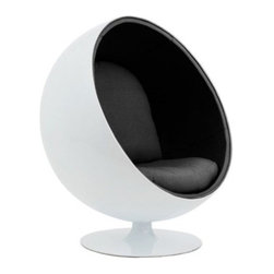 Nuevoliving - Nuevo Living Orbit Lounge Chair - White | Black - Features: