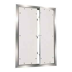 "Best Access Doors - 8"" x 8"" Drywall Inlay Access Panel with Oversized Multi-Door - 8"" x 8"" Drywall Inlay Access Panel with oversized multi-door BA-F1-F2OM - Aluminum frame with drywall inlay for drywall applications The access panel consists of a welded aluminum frame and is available with or without 1 2"" (12.7 mm) or 5 8"" (15.9 mm) inlayed drywall and two latches. Both an outer and an inner frame assembly consist of high grade aluminum which is bonded with a special welding process. For sizes 12"" x 12"" (305 mm x 305 mm) and up the access panels are equipped with a safety system to prevent accidental opening. This safety system must be reattached if the hatch is removed. The reveal of 1 16 of an inch (1.59 mm) is visible between outer frame and door hatch. The concealed snap locks open the access panel when pressure is applied to the spring loaded latch side. This access panel is designed with a double door to create a large clear span opening. http: www.bestaccessdoors.com content BA-F10625.pdf Download Technical Data Submittal Sheet span Special advantages br span span Superior engineering innovative design span span Fast delivery span span Quick and easy installation span span Solid aluminum frame span span Flush installation in ceilings and walls span span Available in moisture resistant, mildew resistant, and cement board span Customized solutions Customized sizes can be produced in every dimension upon request. http: www.bestaccessdoors.com custom-size-access-doors (Request a Quote)"