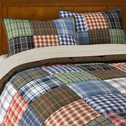Patch Plaid Quilt & Sham