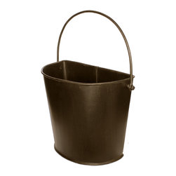 Antique Revival - Brown Bolero Metal Half Bucket - The Bolero Metal half-bucket can look great on the wall of a kitchen, living room, patio, bathroom or bedroom. The brown finish allows it to blend in with existing decor while providing the perfect way to display a floral arrangement on a wall. The iron handle and hand-welded metal give this half-bucket an authentic, rustic vibe.