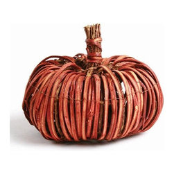 Home Decorators Collection - Natural Vine Pumpkin - For a rustic, autumnal feel, choose our Natural Vine Pumpkin. The appealing pumpkin shape of this home accent is handcrafted of natural roots and branches. Place one alongside other table decorations or scatter a few throughout your space. Handmade of natural roots and branches on a wire frame. Clean with a dry cloth.