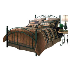 Hillsdale Furniture - Hillsdale Willow Panel Bed - King - A striking design mixing round and square diameters giving this bed a contemporary design theme.