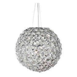 Aura Crystal Pendant Lamp - Aura Crystal PendantThe Aura pendant lamp is made with embedded crystals and will emit a spectrum of glimmering light.