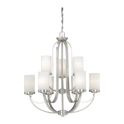 Vaxcel - Chu009 Oxford Nine Light Two Tier Up Lighting Chandelier - For over 20 years, Vaxcel International has been a premier supplier of residential lighting products. Their product offering ranges from builder-ready fixtures and ceiling fans to designer chandeliers and lamps, in the latest styles and finishes.