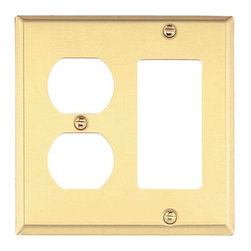 Renovators Supply - Switchplates Solid Brass Solid Brass GFI Outlet Switch Plate - Our solid brass switch plates have a baked on finish that outlasts normal lacquer finishes. Every plate is protected with a peel-away plastic coating for protection in shipping. Solid brass screws are included.