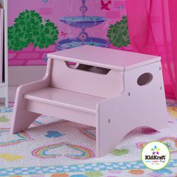 Kid Kraft - Kids Storage Unit With Step 'N Store in Petal Color From Vistastores - This is kid kraft Step 'N Store storage unit which brings kids important toys, books and other material one step closer. It is also very Small sized so that it can be kept in any room without taking too much space. It can be also a ideal gift for kids who like to be bold, brave and do work and play independently. Its top step lifts work as to reveal convenient storage. Its Low center of gravity makes it hard to tip over.