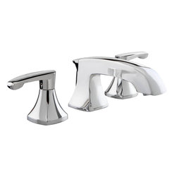 "American Standard - American Standard 7005.801.002 Bathroom Faucet - Add Art Deco-inspired elegance with ease. Our Copeland? Collection of bathroom faucets and accessories complements bathrooms with traditional lighting fixtures and door hardware especially well. This elegant widespread faucet has flexible hose connections that allow you to install the handles from 6"" to 12"" apart to accommodate a variety of sinks."