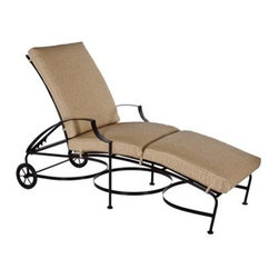 OW Lee - OW Lee Laredo Chaise Lounge - The Laredo collection was designed with comfort in mind. Utilizing spring steel strapping in the seat and back coupled with an extra wide arm there are few collections that rival it in relaxation. The simple lines of this collection add a touch of modern class without pretention.Since 1947 O. W. Lee has been making hand wrought iron casual patio furniture In the United States. O. W. Lee's designs evoke classical European and traditional South West American aesthetics. Created with traditional blacksmithing techniques but ideally suited for our modern lifestyles. Based in California O.W. Lee updates traditional with modern equipment and materials to produce beautiful durable furniture. From the reticulated foam in the cushions to their galvanized metal frames; O.W. Lee consistently strives for and achieves style comfort and durability. Oversized cushions fire pits and inviting designs encourage casual lounging on your patio.