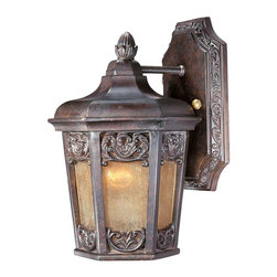Maxim Lighting - Maxim Lexington VX 1-Light Outdoor Wall Lantern Umber - 40172NSCU - Maxim Lighting's Lexington VX collection is made with Vivex, a material twice the strength of resin, is non-corrosive, UV resistant and backed with a 3-Year Limited Warranty. Lexington VX features our colonial umber finish and night shade glass.