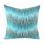 Hand Woven Ikat Pillow Cover - Spe105 - Ikat pillow cover constructed from hand woven Ikat fabric from Uzbekistan.