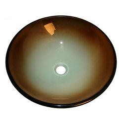 Flotera - Flotera La Terra Modern Bathroom Multicolor Green White Brown Glass Vessel Sink - VESSEL SINK ADVANTAGES...