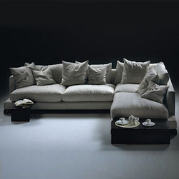 20012 - Long Island Sectional Sofa - I find the ease and casual luxury of this sofa a perfect pick for the centerpiece of any room. It is designed for living but can also stand alone to be admired.