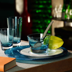Villeroy & Boch - Villeroy & Boch Colour Concept Glassware - Villeroy & Boch's Colour Concepts collection combines textured accents, thick shams and an outstanding blue shade to serve up effortless modern style. Each piece is handcrafted to add some color to your home or outdoor setting.