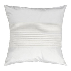 """Surya - Surya Tracks Decorative Pillow - White - HH017-1818D - Shop for Pillows from Hayneedle.com! About Surya RugsSince 1976 Surya has established itself as one of India's leading producers of fine hand-knotted hand-tufted and flat-woven rugs. Their products are sold in the U.S.A. at respected department and specialty stores. The company is known for its quality value dedication and innovation. This includes responsibility for the entire process - spinning dyeing weaving and finishing. Surya prides itself on using the best raw material available for the production of their rugs. They are proud members of """"Wools of New Zealand."""" From design concept through production a Surya family member is involved making sure that the highest standards are being met at each level. Surya works with top designers and constantly updates their designs and color palettes to match and set the trends in design and fashion for the home. Surya always means a fine choice in rugs."""