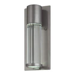 Minka Lavery - Minka Lavery Outdoor 72321-247 Soare Tinted Silver 1 Light Wall Sconce - Faceted Eidolon Krystal Glass Shade