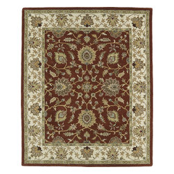 """Kaleen - Kaleen Taj TAJ09 (Rust) 5' x 7'9"""" Rug - This Hand Tufted rug would make a great addition to any room in the house. The plush feel and durability of this rug will make it a must for your home. Free Shipping - Quick Delivery - Satisfaction Guaranteed"""