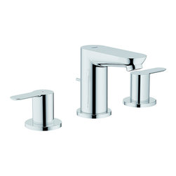 Grohe - Grohe Lavatory Wideset Faucet - Give you bathroom a fresh new look with this chrome lavatory faucet set. Constructed of solid brass, this faucet set provides durability. The Starlight Chrome finish of this set will easily match any decor. A double handle offers easy functionality.
