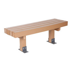 "Eagle One - Eagle One 4 Ft Station Bench - ""Eagle One's 4' Station Bench is made with easy to clean, low maintenance, never-rot GREENWOOD HDPE recycled plastic lumber. Includes heavy-duty powder coated anchor brackets and mounting hardware. Dimensions (W x L x D): 50"""" x 17"""" x 19"""" (174 LBS)Material: HDPE Recycled Plastic LumberMade in the USAColor listed is for seat color and not the actual material of the wood"""