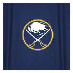 Sports Coverage - NHL Buffalo Sabres Hockey Locker Room Shower Curtain - FEATURES: