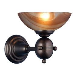 """Meyda Lighting - Meyda Lighting 70838 9""""W Deco Ball Cognac Swirl Wall Sconce - Meyda Lighting 70838 9""""W Deco Ball Cognac Swirl Wall Sconce"""