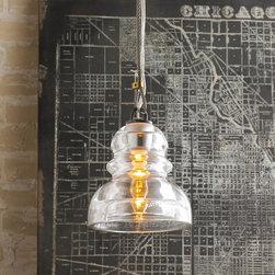 Reproduction Insulator Glass Pendant -