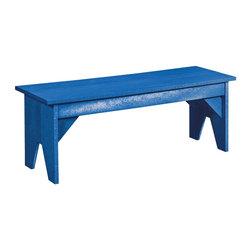 C.R. Plastic Products - C.R. Plastics Chaise Lounge with Wheels In Blue - C.R. Plastics Chaise Lounge with Wheels In Blue