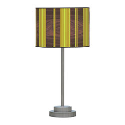 Vertical Stripey 2 Stem Table Lamp