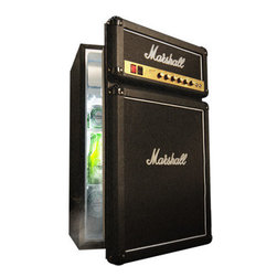 Marshall Fridge - OK, so it's a little on the pricey side, but it rocks so hard that I have to include it. It's a mini-fridge that looks like an amp — an amp! Imagine how cool it would be to have an after-school snack/drink stashed in this thing.