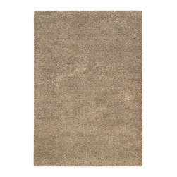 "Nourison - Nourison Amore AMOR1 7'10"" x 10'10"" Oyster Area Rug 15023 - A shag rug is always striking but when offered in an alluring oyster hue, its chic quotient is elevated to the nth degree. Lushly textured with a faux-fur-like fabrication and expertly crafted to stand the test of time, this fantastic rug is utterly fabulous in its look and feel."